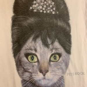 PETS ROCK 1950's Glam Cat-Audrey Hepburn